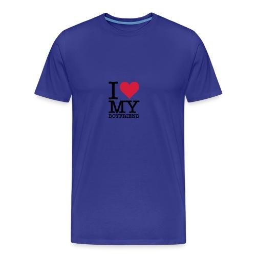 I love my boyfriend - Men's Premium T-Shirt