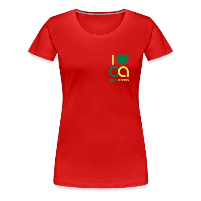 I love Open Access Girlieshirt