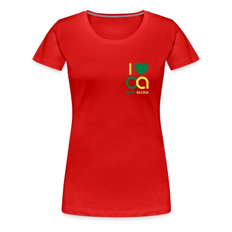 I love Open Access Girlieshirt - Frauen Premium T-Shirt