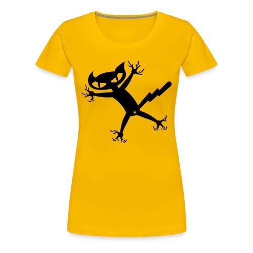 Bad Cat - gelb girlieshirt - Frauen Premium T-Shirt
