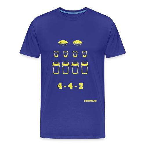 4-4-2 - Men's T-Shirt - Men's Premium T-Shirt