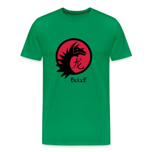 MEN'S ORIENTAL DRAGON T-SHIRT (KELLY GREEN) - Men's Premium T-Shirt