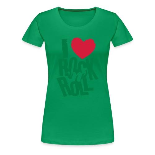 Tee Shirt I Love Rock - T-shirt Premium Femme