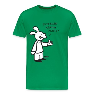 Malinen - Rähinä piälle! - Miesten premium t-paita