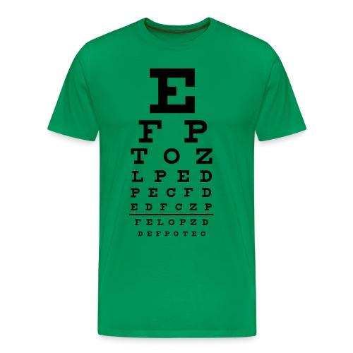 eye chart test sysnstest - Premium T-skjorte for menn