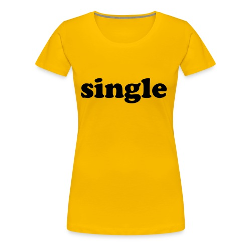 single girlie shirt kelly dark yellow - Women's Premium T-Shirt