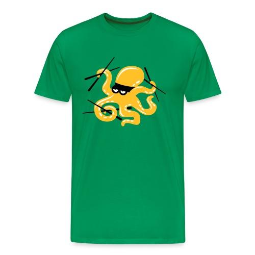 Octopuss Kaki - T-shirt Premium Homme