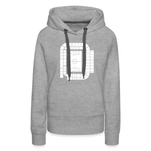 ELLAND ROAD - ACTUAL STADIUM PLAN - Women's Premium Hoodie
