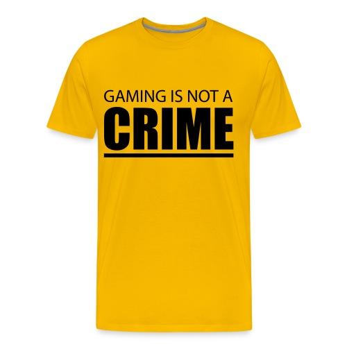 Gaming Is Not A Crime T-Shirt - Men's Premium T-Shirt