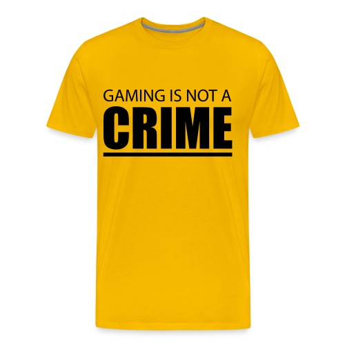 Gaming Is Not A Crime T-Shirt - Men's Premium T-Shirt