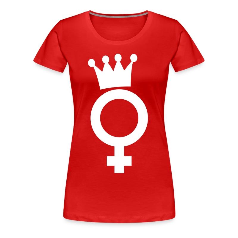 Dramaqueen White Logo Big - T-Shirt - Frauen Premium T-Shirt