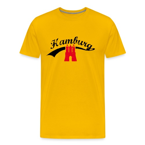 Gelb Hamburg Retro - Männer Premium T-Shirt