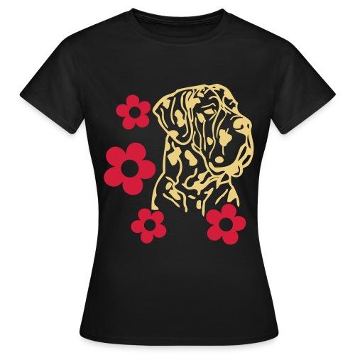 Damen T-Shirt Dog - Frauen T-Shirt