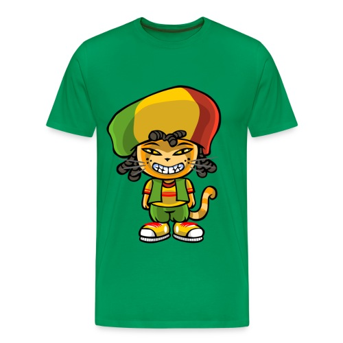 Reggae cat - Men's Premium T-Shirt