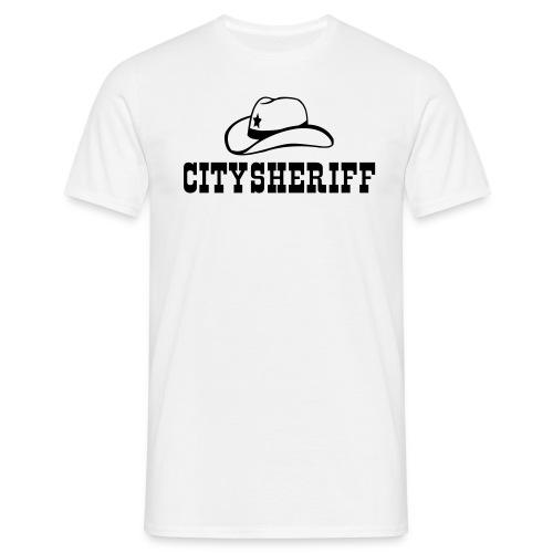 Citysheriff Westernschrift T-Shirt  - Männer T-Shirt