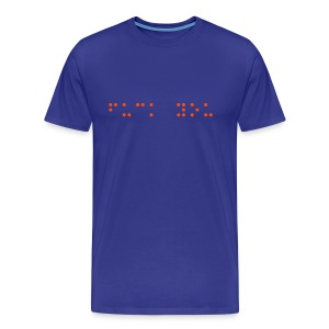 Braille F*** You - Men's Premium T-Shirt