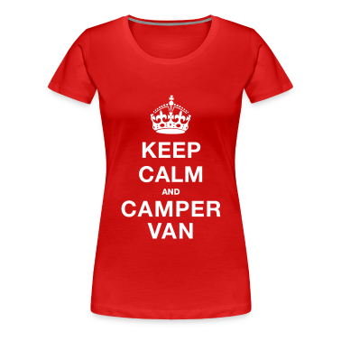 Red Keep Calm and Campervan Women's T-Shirts