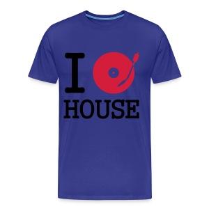 I Love House T-Shirt  - Mannen Premium T-shirt
