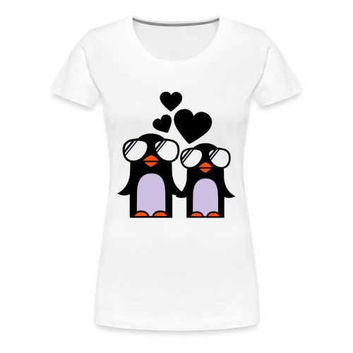 Penguin love - I found you - Premium T-skjorte for kvinner
