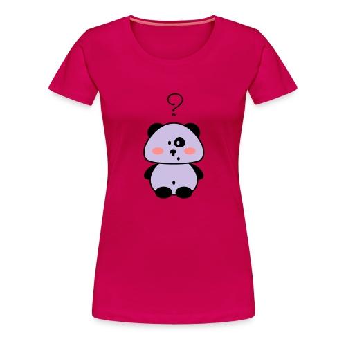 FlorenceDesign - T-Shirt Donna panda perplesso - Maglietta Premium da donna