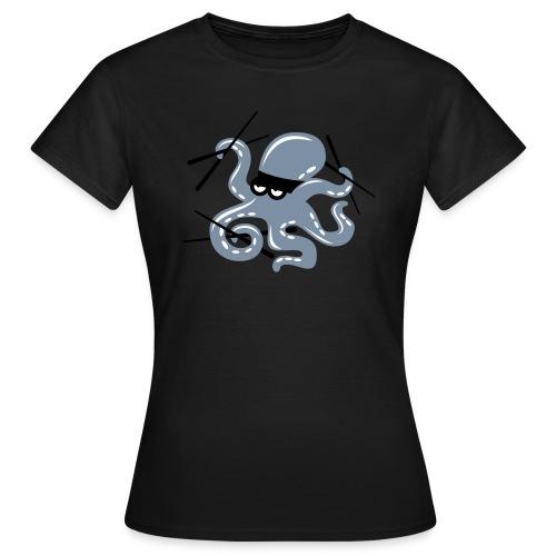 Octopuss Argent Mat F - T-shirt Femme