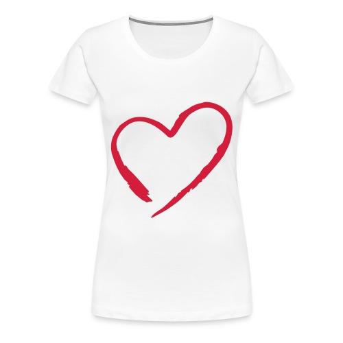 Modern heart - Premium T-skjorte for kvinner