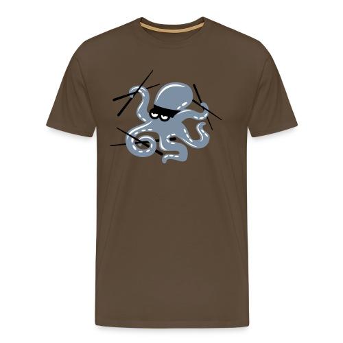 Octopuss Argent Mat M - T-shirt Premium Homme