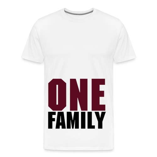 Oversized shirt One Family White/Black/Purple - Mannen Premium T-shirt