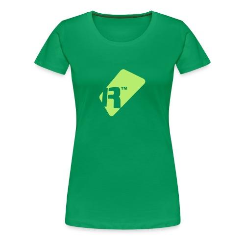 Girlie T-Shirt - Light Green Renoise Tag - Women's Premium T-Shirt