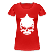 T-Shirts ~ Frauen Premium T-Shirt ~ Drama Queen Star-Skull T-Shirt