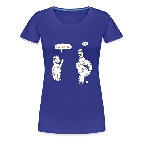 Knutetrøya, jente - Premium T-skjorte for kvinner
