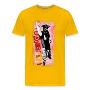Underdog - yellow shirt - Männer Premium T-Shirt