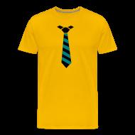 T-shirts ~ Mannen Premium T-shirt ~ Stropdas streep zwart