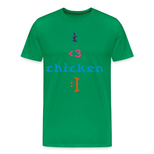 chicken love, tee - Men's Premium T-Shirt