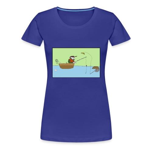 Fisketrøya2, jente - Premium T-skjorte for kvinner