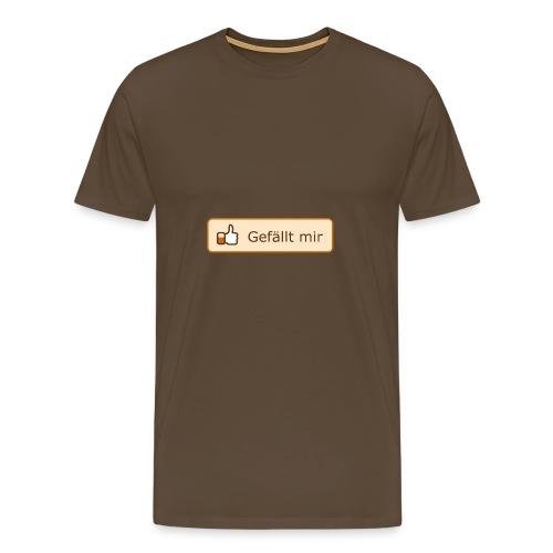 Gefällt mir T-Shirt! (braun) - Männer Premium T-Shirt