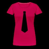 T-shirts ~ Vrouwen Premium T-shirt ~ Stropdas zwart