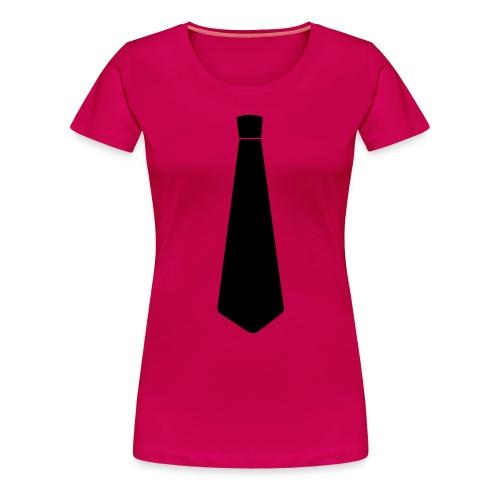 Stropdas zwart - Vrouwen Premium T-shirt