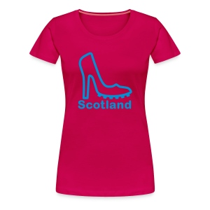 Ladies Scotland T-Shirt Football Shoe - Women's Premium T-Shirt