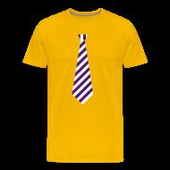 T-shirts ~ Mannen Premium T-shirt ~ Stropdas streep paars