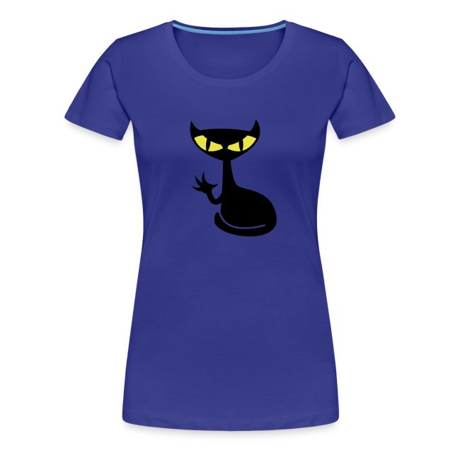 Catfight - divablau girlieshirt1