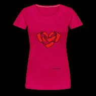 T-Shirts ~ Frauen Premium T-Shirt ~ Ein Herz für Amrum