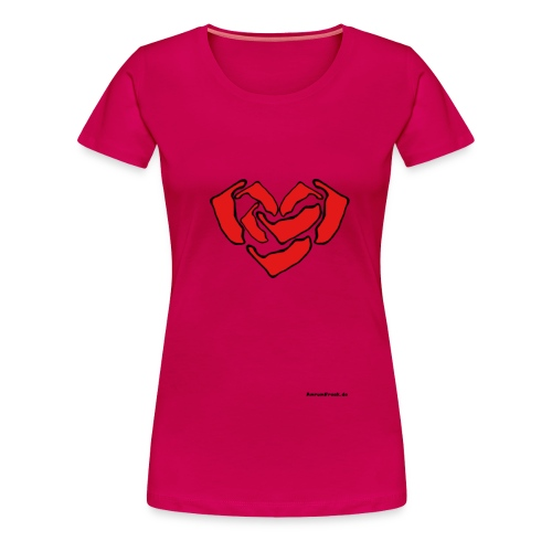 Ein Herz für Amrum - Frauen Premium T-Shirt
