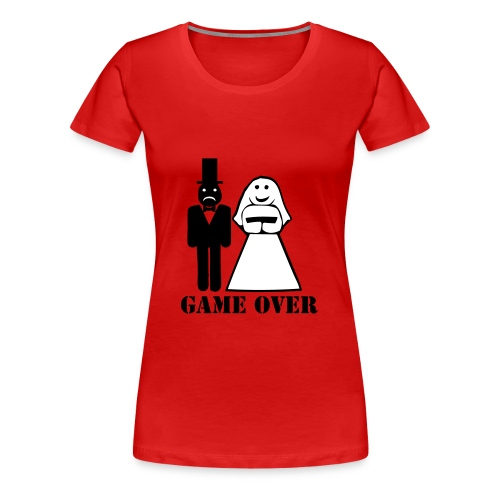 t-shirt Miss Frog game over - Maglietta Premium da donna