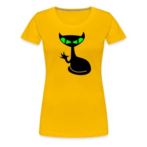 Catfight - yellow girlie - Frauen Premium T-Shirt