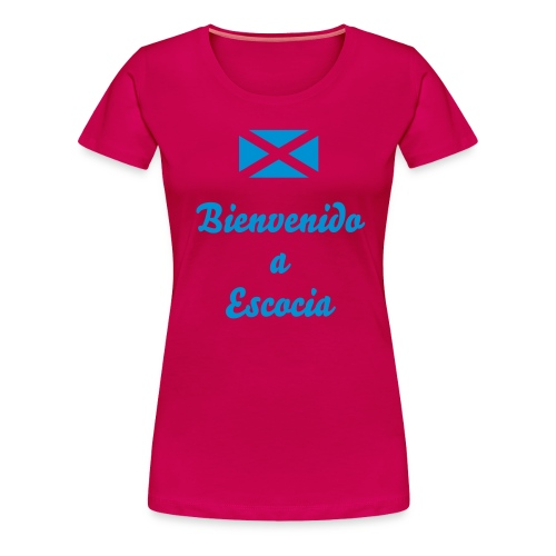Ladies Scotland T-Shirt Scotland v Spain - Women's Premium T-Shirt