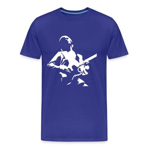 Guitar Custom Blue - Camiseta premium hombre