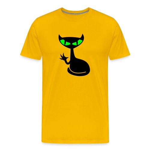 Catfight - yellow shirt - Männer Premium T-Shirt