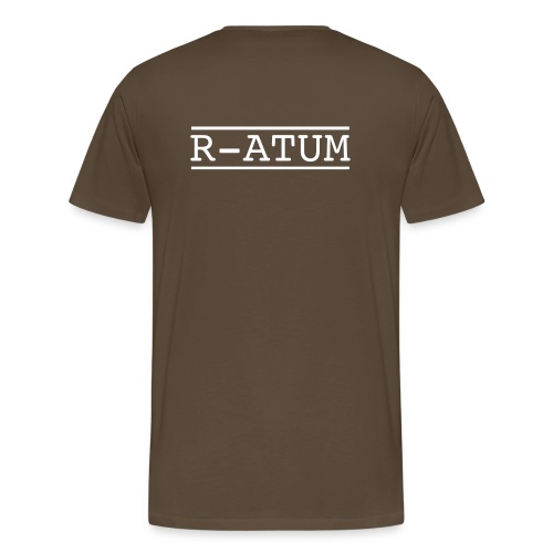 Tee-shirt étoile rouge sur code barre blanc / R-ATUM Dos - T-shirt Premium Homme