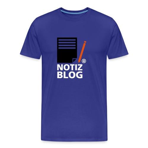 Männershirt Notiz Blog - Männer Premium T-Shirt